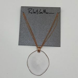 Robert Lee Morris Sculptural Disc Pendant Necklace